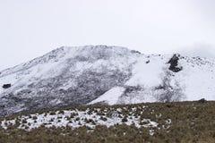 NIEVE NEVADO BLANCO LAGO. LANSCAPE LAKE SNOW NEVADO DE TOLUCA MEXICO WINTER WHITE BLANCO stock photo