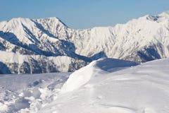 Nieve para el freeride Fotografía de archivo libre de regalías