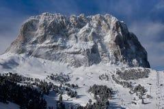Nieve, picos y nubes Fotografía de archivo libre de regalías