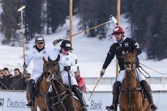 Nieve Polo Cup Sankt 2017 Moritz Fotografía de archivo