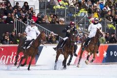 Nieve Polo Cup Sankt 2017 Moritz Imágenes de archivo libres de regalías