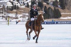 Nieve Polo Cup Sankt 2017 Moritz Imagen de archivo