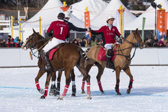 Nieve Polo Cup Sankt 2017 Moritz Foto de archivo