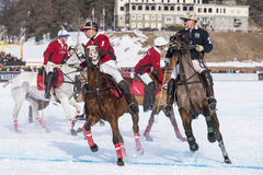 Nieve Polo Cup Sankt 2017 Moritz Fotografía de archivo libre de regalías