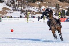 Nieve Polo Cup Sankt 2017 Moritz Imagen de archivo libre de regalías