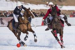 Nieve Polo Cup Sankt 2017 Moritz Imagenes de archivo
