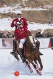 Nieve Polo Cup Sankt 2017 Moritz Foto de archivo libre de regalías