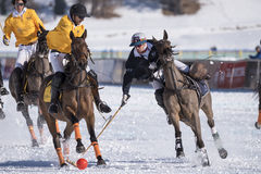 Nieve Polo World Cup Sankt Moritz 2016 fotos de archivo libres de regalías