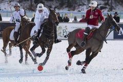 Nieve Polo World Cup Sankt Moritz 2016 imágenes de archivo libres de regalías