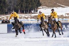 Nieve Polo World Cup Sankt Moritz 2016 imagen de archivo