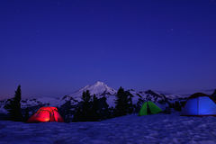 Nieve que acampa en el artista Point Imagen de archivo