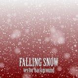 Nieve que cae Foto de archivo