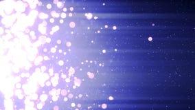 Nieve que cae con las chispas del círculo de la Navidad de la luz del bokeh almacen de video