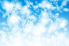 Nieve que cae del arte Foto de archivo