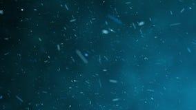 Nieve que cae, efecto hermoso del movimiento de las partículas almacen de video