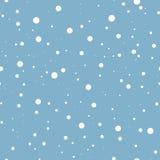 Nieve que cae en azul Fondo inconsútil del vector Imagen de archivo