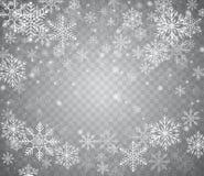 Nieve que cae en diversas formas Nieve de la Navidad con el copo de nieve libre illustration