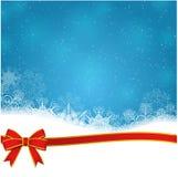 Nieve que cae en el azul stock de ilustración