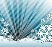 Nieve que cae en el paisaje Foto de archivo libre de regalías