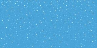 Nieve que cae en fondo azul Imagen del vector Contexto abstracto del copo de nieve Fotografía de archivo libre de regalías