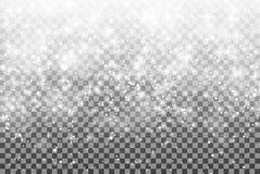 Nieve que cae en un fondo transparente Ejemplo 10 EPS del vector Imagenes de archivo