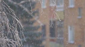 Nieve que cae lenta almacen de video