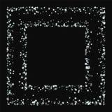 Nieve que cae que sorprende Marco caótico del cuadrado ilustración del vector
