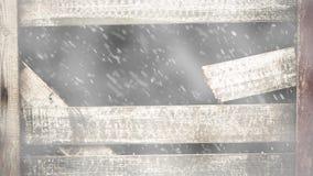 Nieve que cae a través del agujero oscuro metrajes