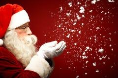 Nieve que sopla Fotos de archivo libres de regalías
