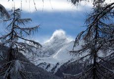 Nieve que sopla Foto de archivo