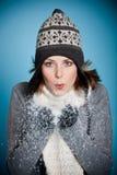 Nieve que sopla Imágenes de archivo libres de regalías
