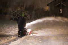 Nieve que sopla del hombre Fotografía de archivo
