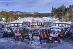 Nieve relajante Fotos de archivo libres de regalías