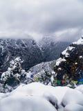 Nieve sobre el bazar de Namche Fotografía de archivo