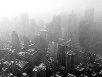 Nieve sobre Nueva York Fotografía de archivo libre de regalías