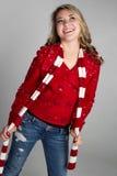 Nieve sonriente adolescente Imagen de archivo