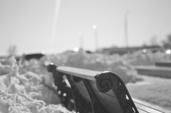 Nieve a través del filtro Imagenes de archivo