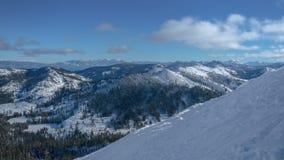 Nieve Vista de Sierra almacen de video