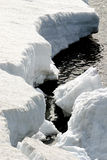 Nieve y agua Foto de archivo libre de regalías