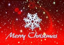 Nieve y estrellas, fondo del hielo de la Feliz Navidad Imagen de archivo