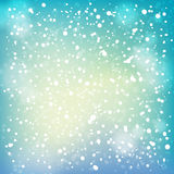 Nieve y fondo suave de los puntos culminantes. Fotografía de archivo