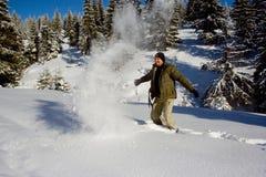 Nieve y hombre Imágenes de archivo libres de regalías