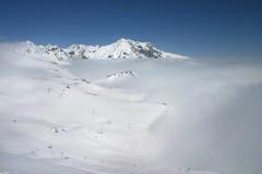 Nieve y nubes Imagenes de archivo