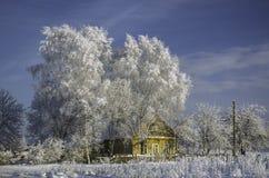 Nieves acumulada por la ventisca del invierno, invierno ruso Imagen de archivo libre de regalías