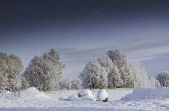Nieves acumulada por la ventisca del invierno, invierno ruso Imagen de archivo