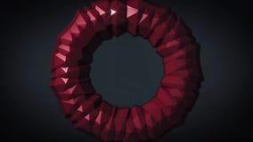 nieważkość Płodozmienny torus na czarnym tle 3D komputer wytwarzająca geometryczna animacja Ilustracja ilustracja wektor