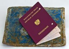 Nieważny europejski paszport zdjęcie stock