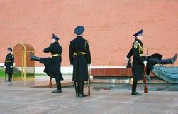 Niewiadomego żołnierza grobowiec w Moskwa Zdjęcie Stock