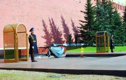 Niewiadomego żołnierza grobowiec w Moskwa Zdjęcie Royalty Free