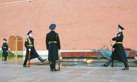 Niewiadomego żołnierza grobowiec w Moskwa Fotografia Stock